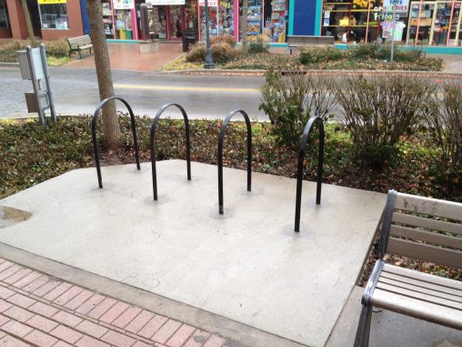 Bike racks, installed